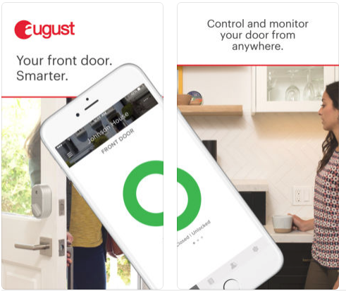 August Home App advertisement.