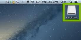 USB drive on the desktop. Screenshot.