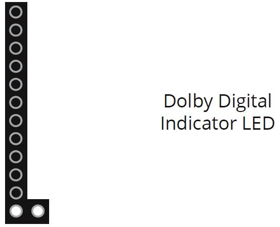 Dolby Digital indicator LED. Diagram.