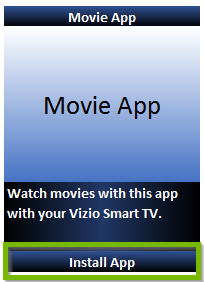 Movie App with Install App highlighted