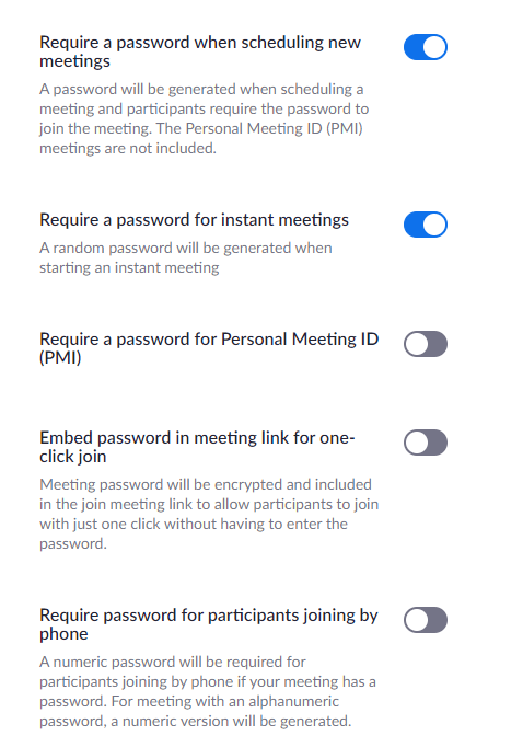 Password control