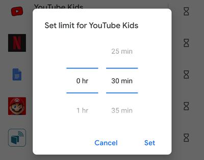 30 min time limit