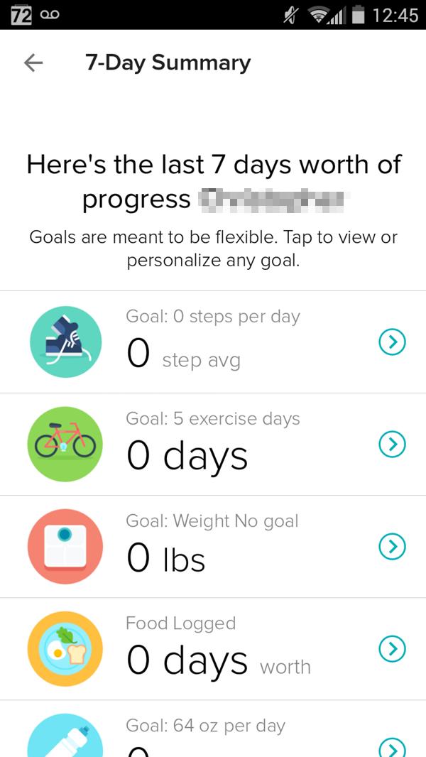 7-Day Summary. Screenshot