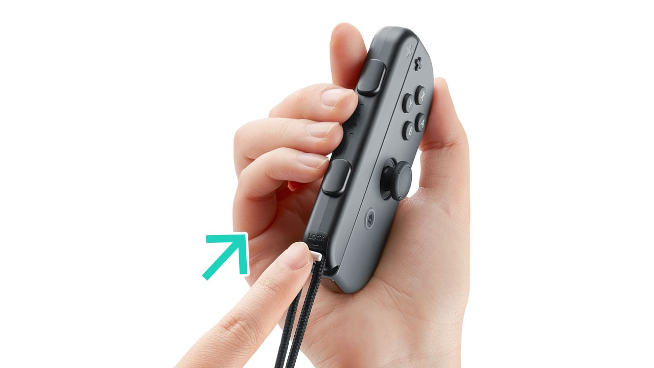 Nintendo Joy-Con strap being locked