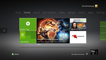 Xbox kinect sensor window