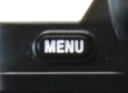 Menu button on camera