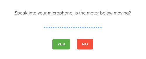 The microphone test