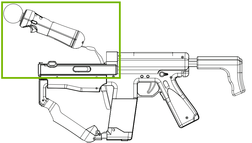 Connecting the PS Move to the Sharp Shooter. Diagram.
