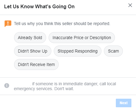 The reporting instructions