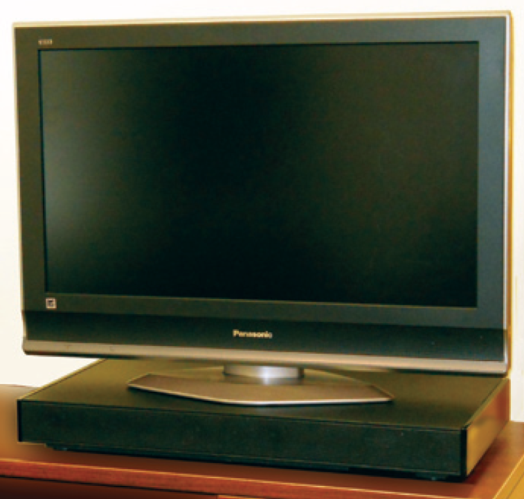 tv with zvox sound base located below