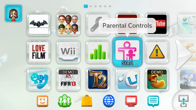 Wii u parental controls icon