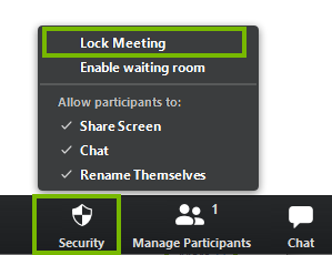 Locking a meeting