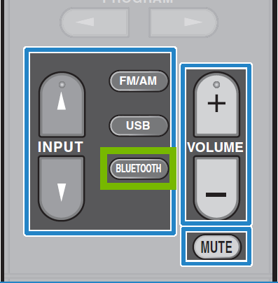 Remote Control Inputs with Bluetooth highlighted.