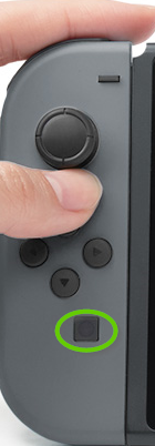 Nintendo left joy con showing the capture button.