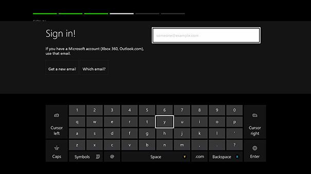 Xbox live sign in page.