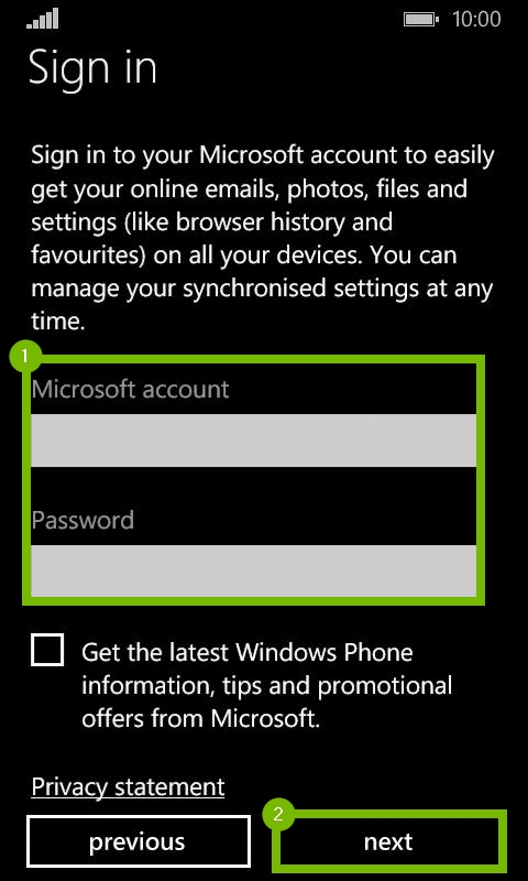 Microsoft Sign in screen. Screenshot.