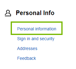 Personal information selection