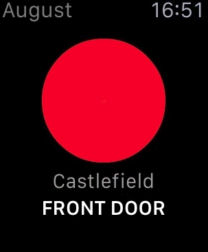 August home app red button for locked door