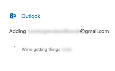 Gmail being added