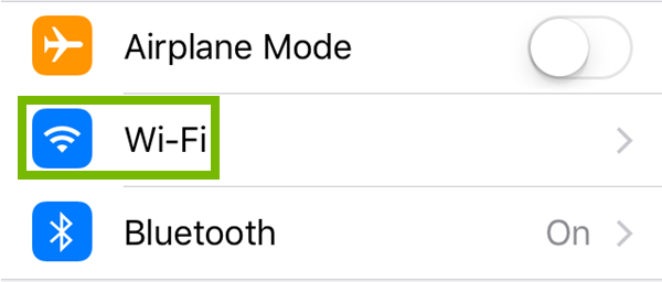 iOS Wifi settings