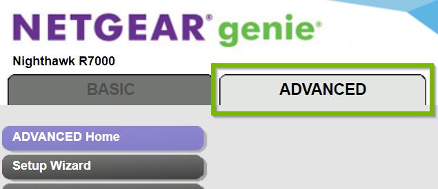 Advanced tab. Screenshot.