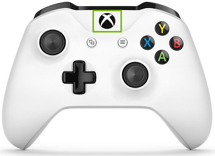 Xbox button.