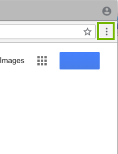 Chrome window with 3 dots highlighted. Screenshot