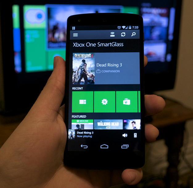 Smartphone running Xbox One SmartGlass.