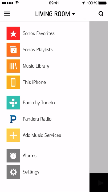 Music service showing up in source selection list in Sonos Controller for mobile devices