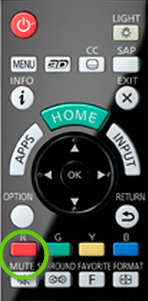 Mute button on TV remote.