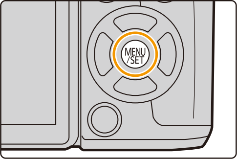 Camera menu button