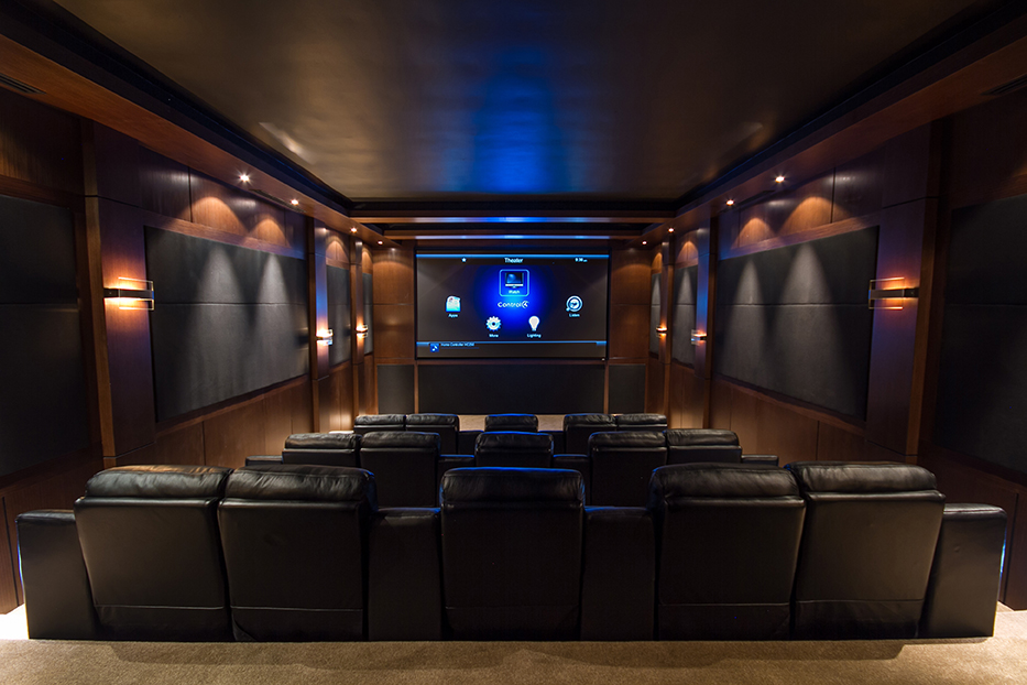 A home theater setup