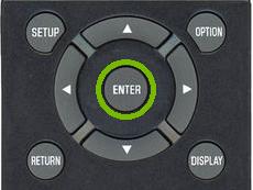 Yamaha Remote Enter Key.