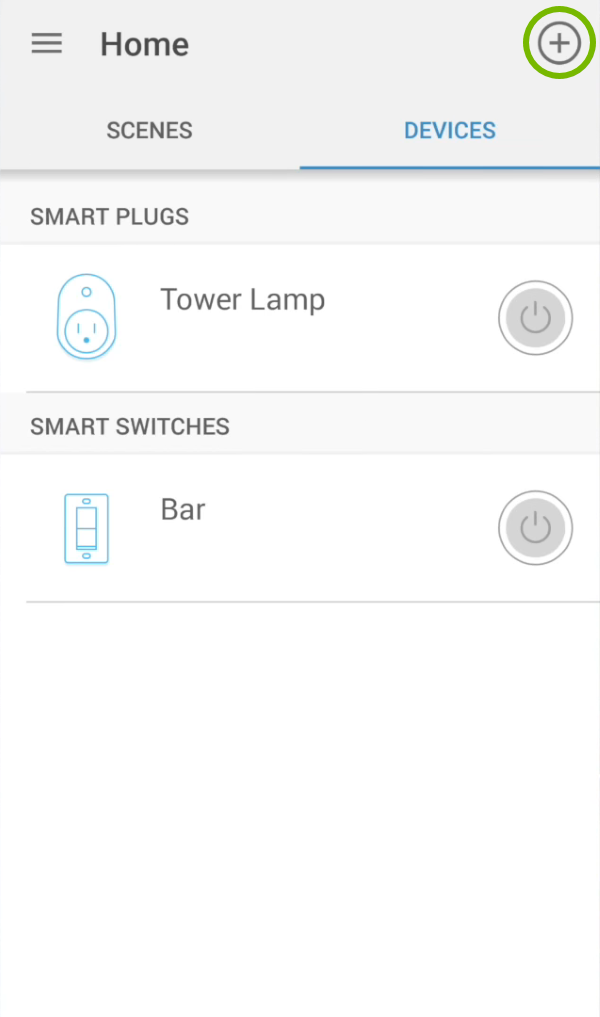 Add icon highlighted in device list of Kasa app.