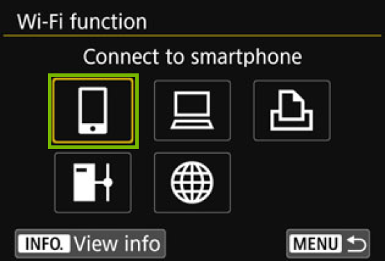 Wi-Fi Function screen with smartphone