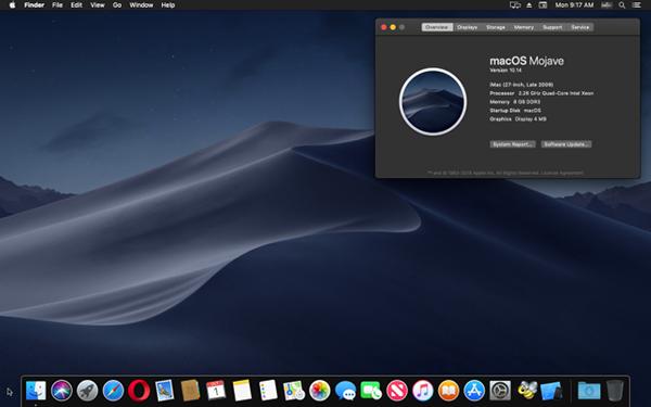 macOS Mojave Desktop.