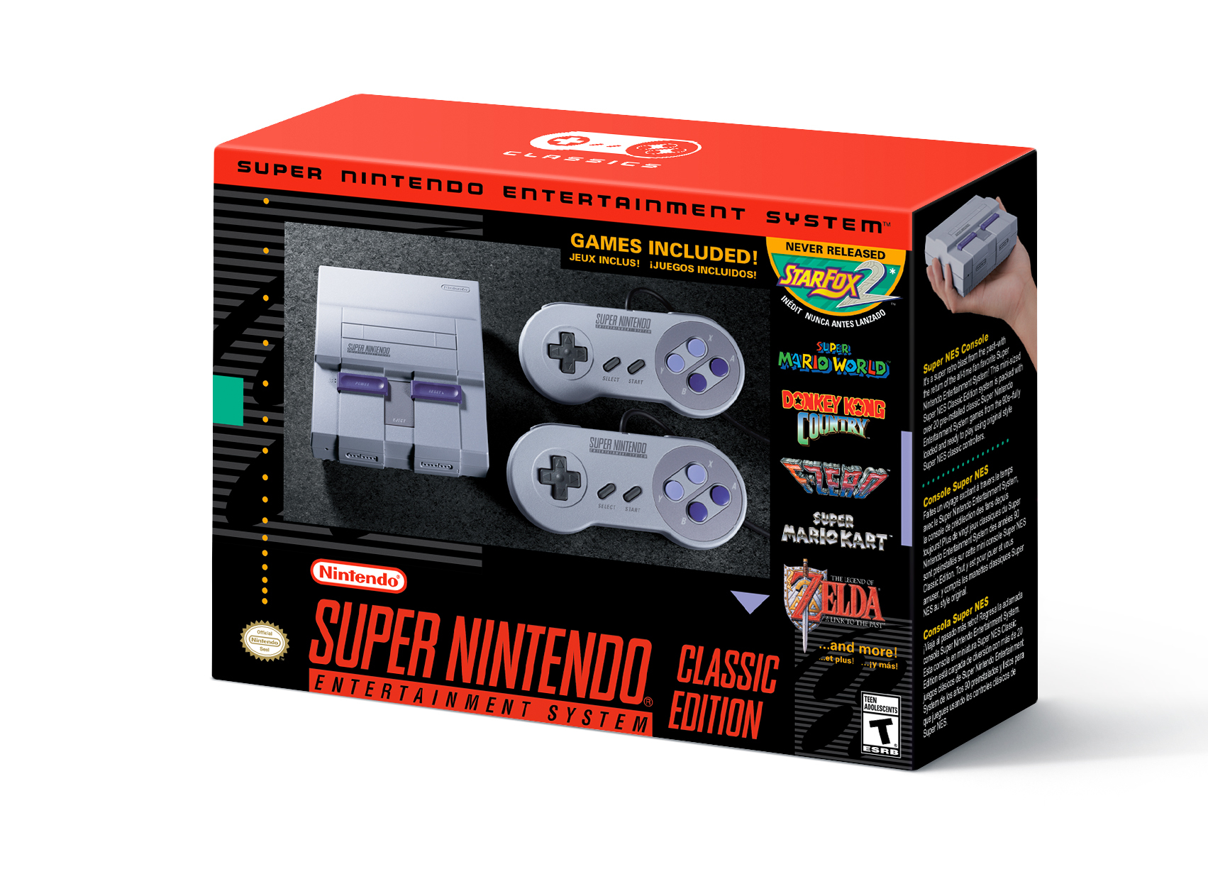 Stock photo of a Super Nintendo Classic Edition new in box.
