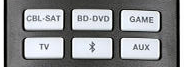 Source selection section on remote.