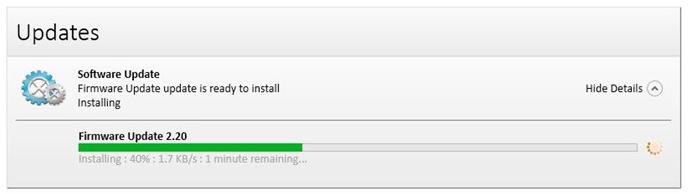 Update notfication show update in progress