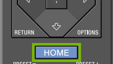 Remote HOME button.