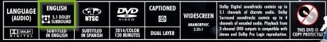 Disk encoding info bar example.
