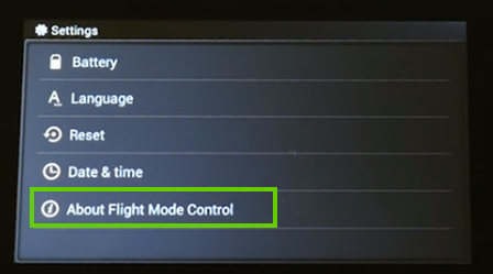 About flight mode button