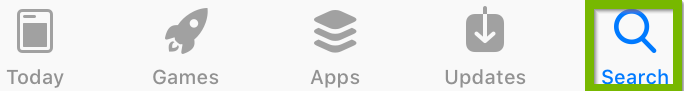iOS app store search icon