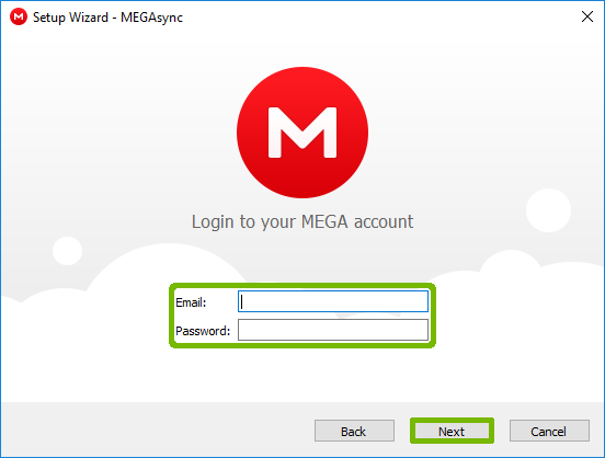 Login prompt with Email Password and Next button highlighted.