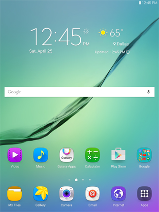 Android main screen.