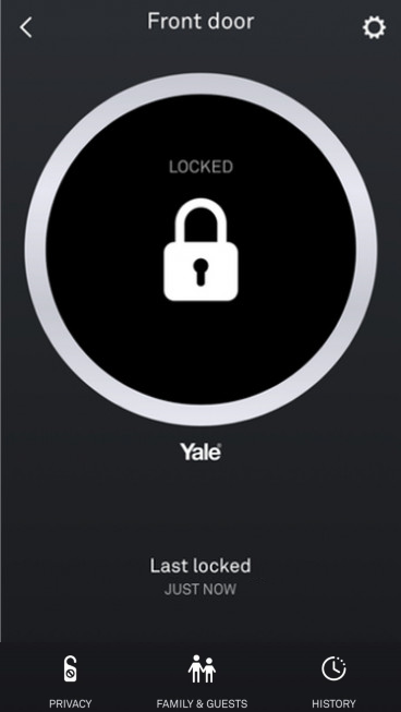 Door lock status in Nest app.