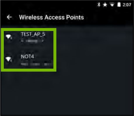 List of Wi-Fi networks highlighted
