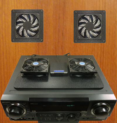An AVR with computer case fans
