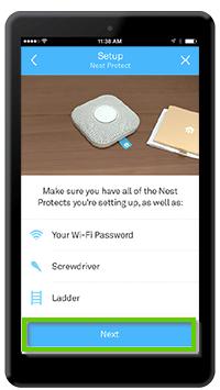 Nest Protect setup page