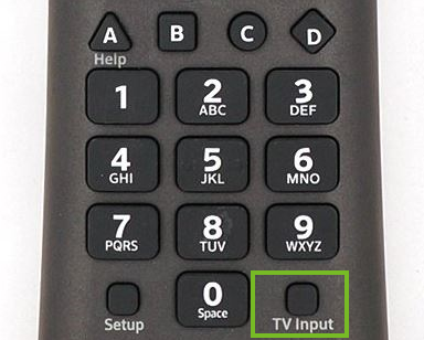Input button on xfinity remote